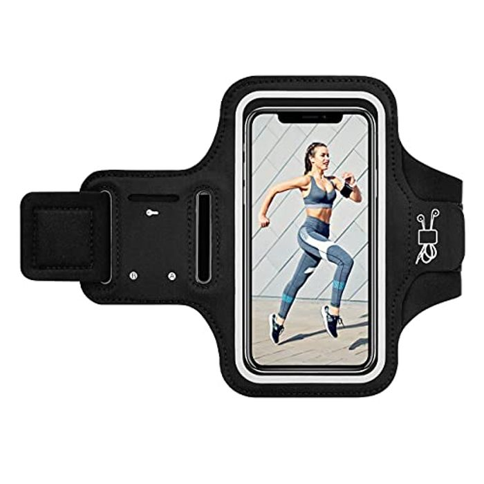 DEAL STACK - Adjustable Running Armband with Key & Headphone Slot + 30% Coupon