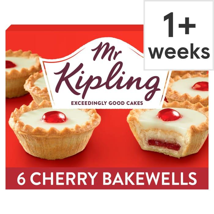 Mr Kipling Cherry Bakewells 6 Pack Club Card Price 85p
