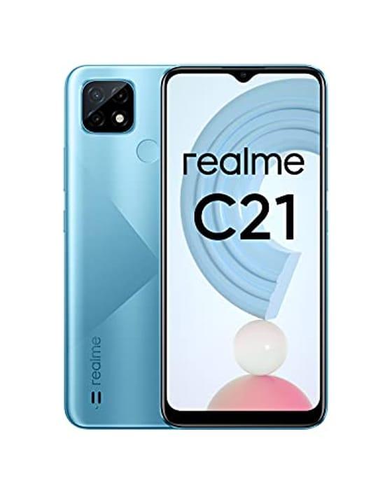 Realme C21 Mobile Phone, Sim Free Unlocked Smartphone with 5000mAh 6.5 Inch