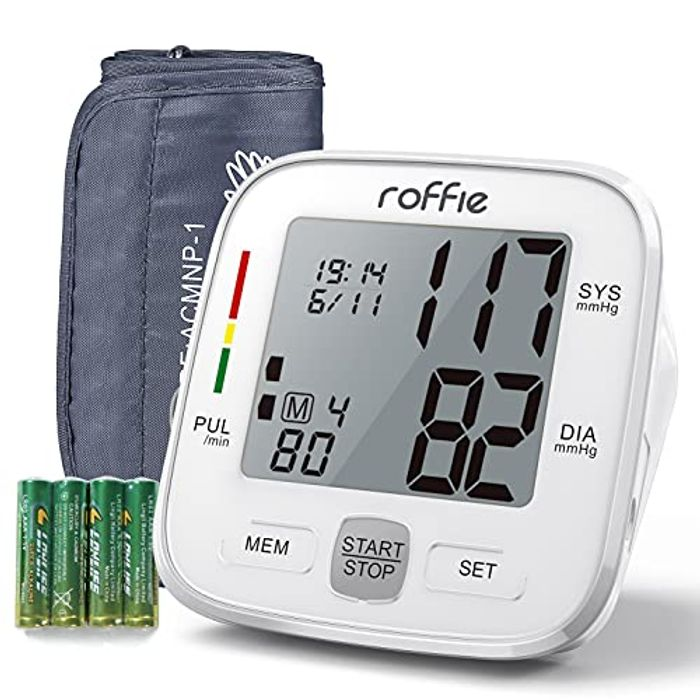 Upper Arm Blood Pressure Monitor and Heart Rate Pulse