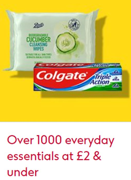 Boots - 1000+ Everyday Essentials £2 Or Less + Stacking Offers