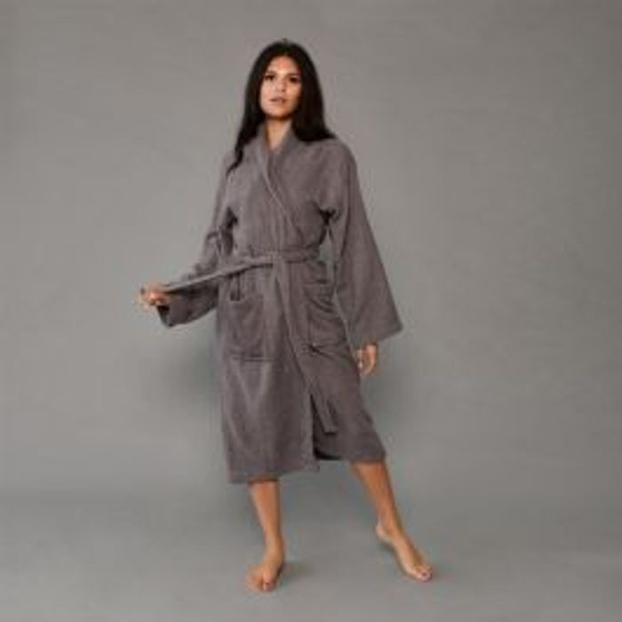 Dressing Gown- Charcoal Grey