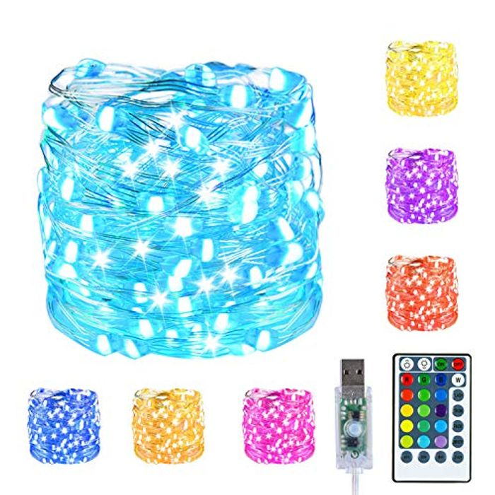 5m USB Led Fairy String Lights with 4 Modes + Remote