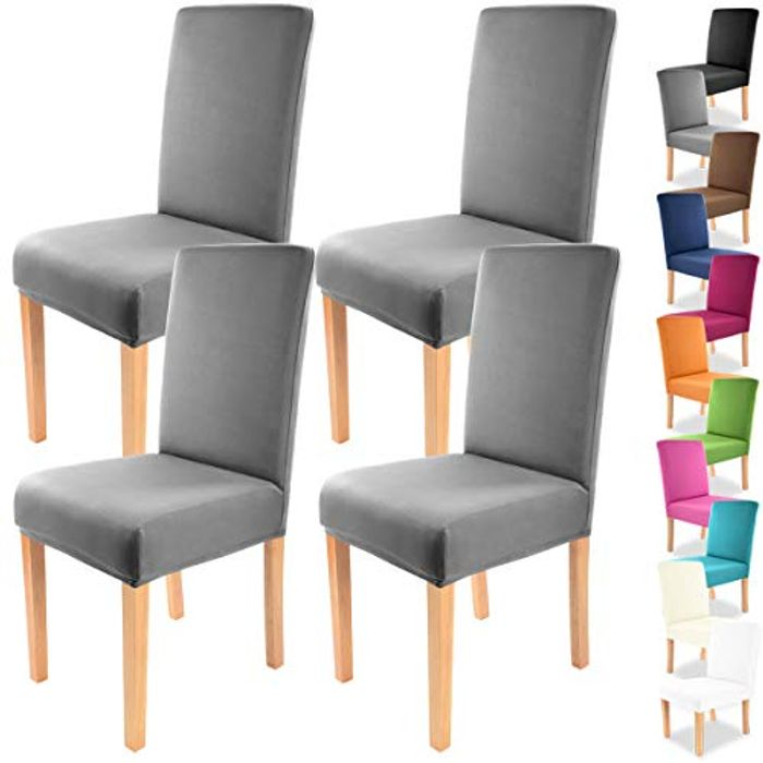 Grfenstayn 4pcs Stretch Chair Covers (Various Colours Available)