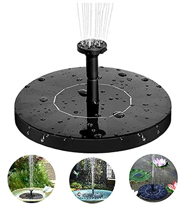 DEAL STACK - ANSGEC Solar Fountain Pump, 1.5W Solar Water + 5% Coupon