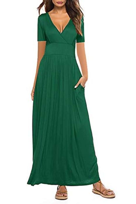 Xikaga Women Summer Casual v Neck Maxi Dresses - Only £4.99!