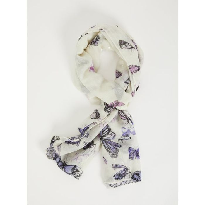 Butterfly Print Scarf - One Size