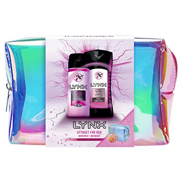 Lynx Attract for Her Washbag Gift Set, Ideal for Girls and Teenagers