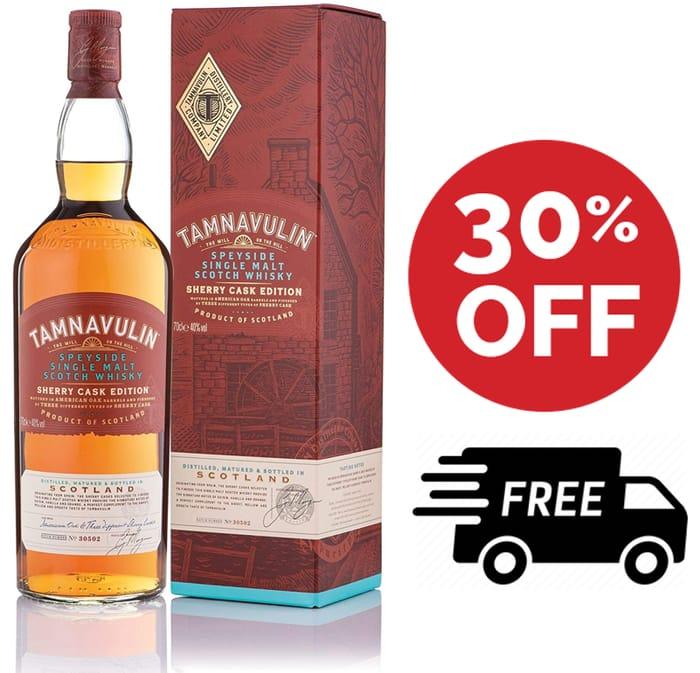 SAVE £10 - Tamnavulin Single Malt Scotch Whisky - Sherry Cask Edition, 70cl