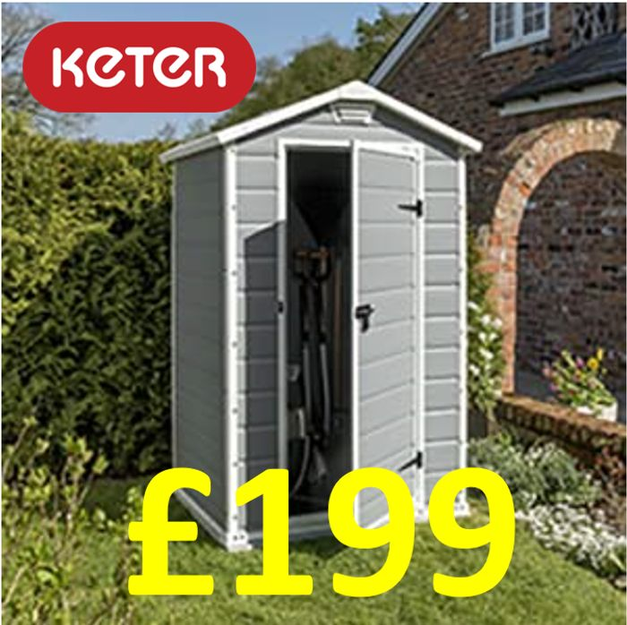CHEAP PRICE! Keter Manor Garden Storage Shed, 4 X 3 Ft