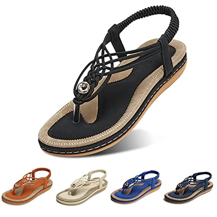 DEAL STACK - Summer Clip Toe Flip Flops Thongs Bohemian Style Shoes + 6% Coupon