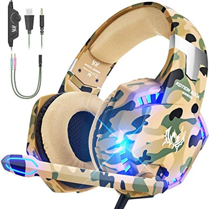 VersionTECH USB Gaming Headset with Mic (Blue or Yellow)