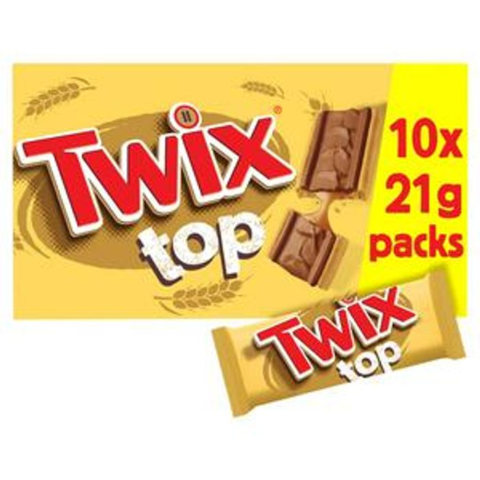 Twix Top Chocolate Biscuit Bars Multipack 10pk