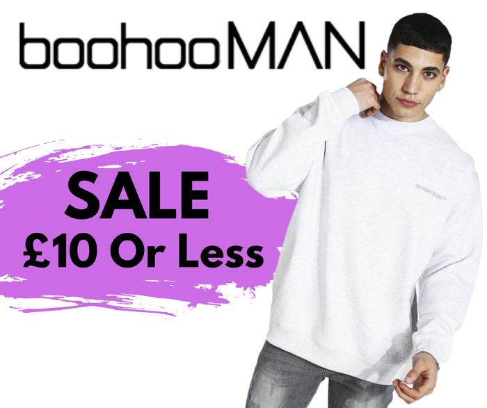 boohooMAN 500+ Lines £10 & Under - Prices From £1!
