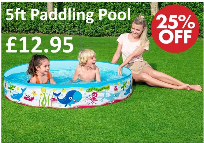 Bestway 60 X 10-Inch Fill N Fun Paddling Pool