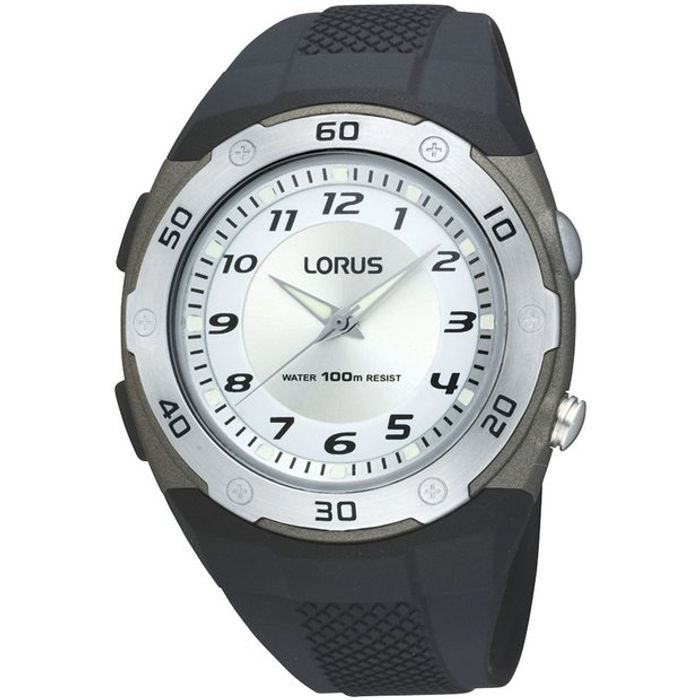 Lorus Men's Black Rubber Strap Watch. Limited Stock, Check Your Store