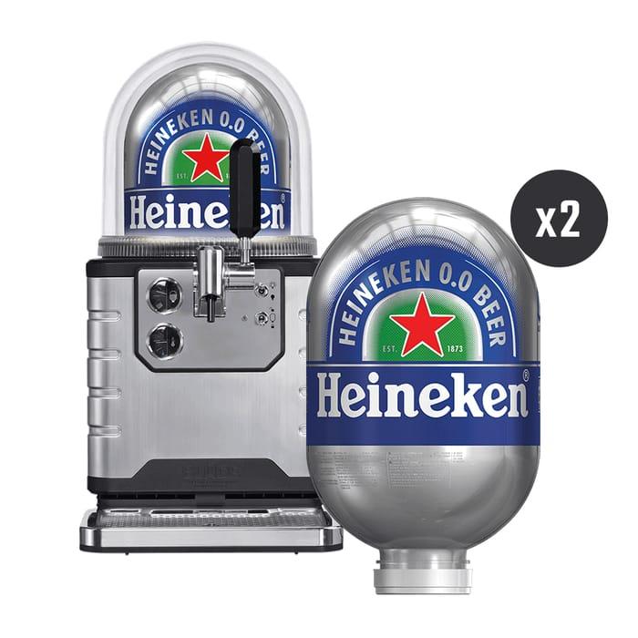 Heineken Blade Starter Pack Beer Machine with 2x 8Ltr BLADE Kegs (alcohol free)
