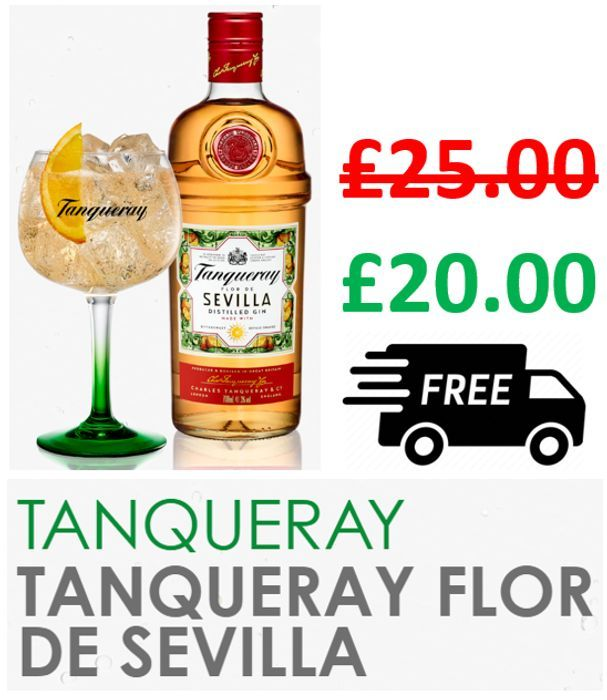 Tanqueray Flor De Sevilla Gin 70cl | Made with Bittersweet Seville Oranges
