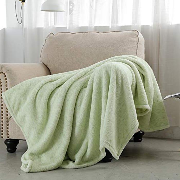 SOCHOW Sherpa Fleece Throw Blanket - Only £8.80!
