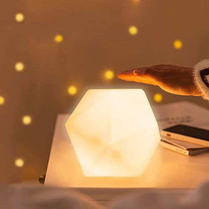 Night Light, Touch Control Color Changing Lamp, USB Rechargeable, 3 Settings
