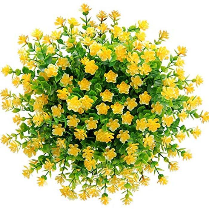 DEAL STACK - CQURE 5pcs Artificial Flowers,Artificial Plants + 10% Coupon