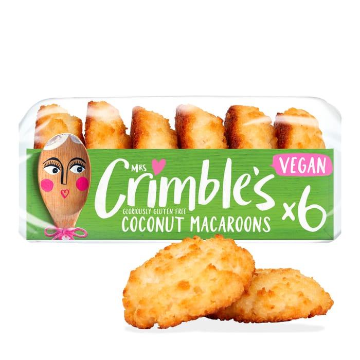 Mrs Crimble's 6 Gluten Free Coconut Macaroons 180G £1 Clubcard Price