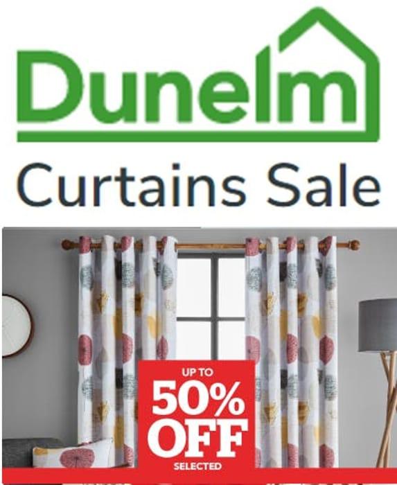 Half Price Curtains at Dunelm