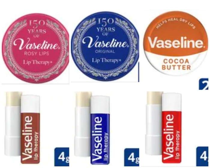 Better than 1/2 Price VaselineTherapy,Tin20g 95p /Vaseline Stick Rosy Lips 4g