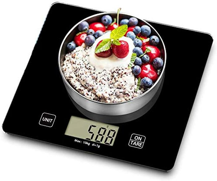 VersionTECH 10kg Digital Kitchen Scale with Tempered Glass