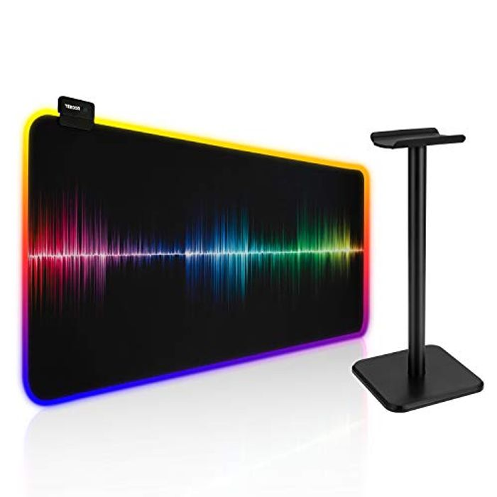 Mitcien RGB Gaming Mouse Mat & Headphone Stand