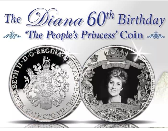 FREE Princess Diana 60th Birthday Coin (£2.50 P&P)