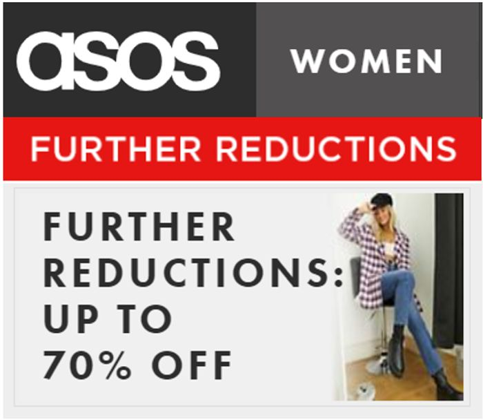 ASOS WOMEN'S OUTLET - Further Reductions - up to 70% OFF (Even 80% OFF)