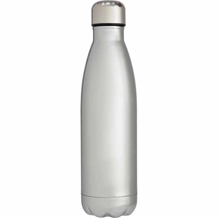 1/2 Price ! Silver Metallic Double Wall Drinks Bottle