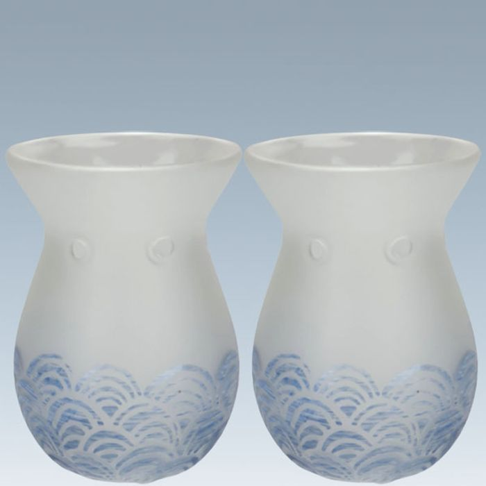 2 X Official Yankee Candle Glass Wave Melt Warmers