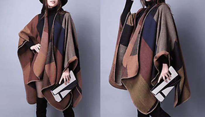 Super-Oversized Patchwork Blanket Scarf