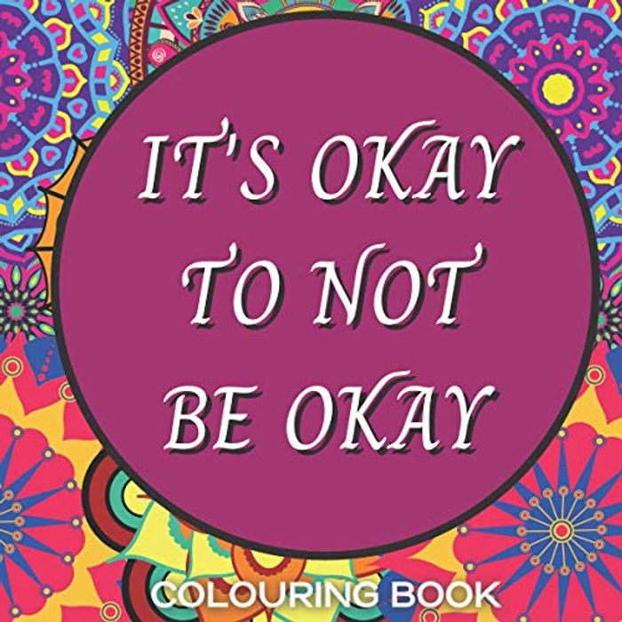CHEAP! Mental Health Quote Colouring Book