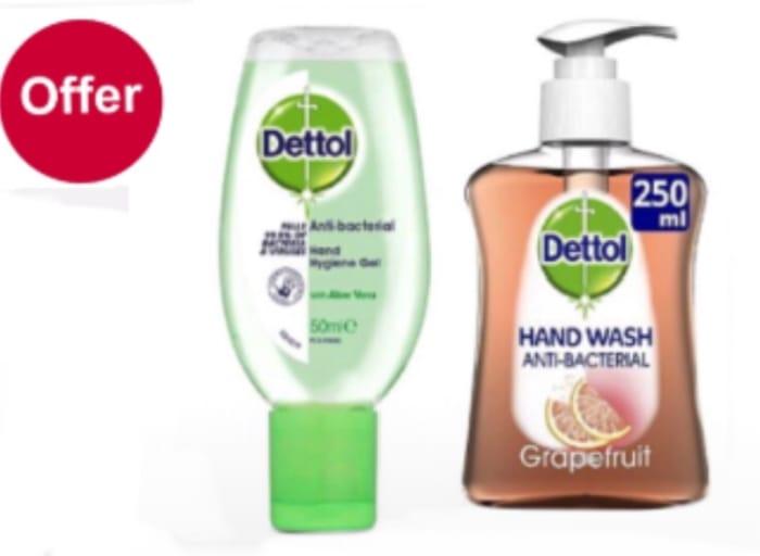 Dettol Antibacterial Liquid Handwash Moisture Grapefruit 250ml/Aloe Gel £1.35