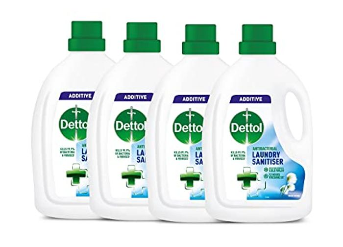 Dettol Antibacterial Laundry Cleanser Additive, Fresh Cotton, Multipack 4x 1.5 L