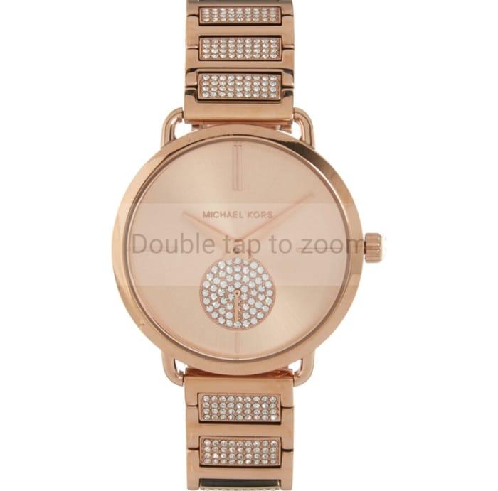 MICHAEL KORS Rose Gold Tone Embellished Watch