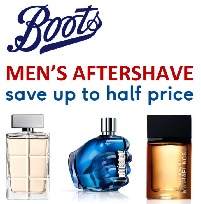 CHEAP! BOOTS - Men's Aftershave - Save Up to Half Price
