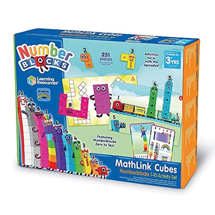 Earning Resources LSP0949-UK MathLink Cubes Numberblocks 1-10 Activity Set,