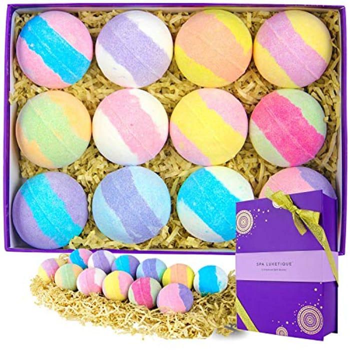 Bath Bombs Gift Set - Natural Bath Bombs Spa Gift Set, 12 X 3.2oz