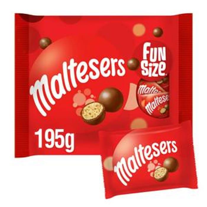 Maltesers Chocolate Fun Size Bags Multipack 195g