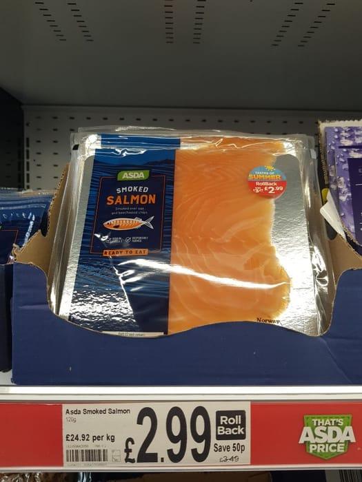 ASDA Smoked Salmon  120g