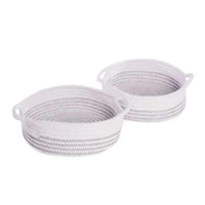 Cotton Rope Storage Baskets - Set of 2