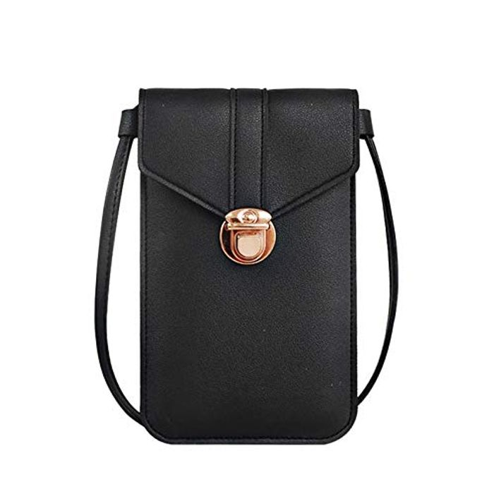 DEAL STACK - Crossbody Women Touch Screen Cell Phone Bag + 30% Coupon