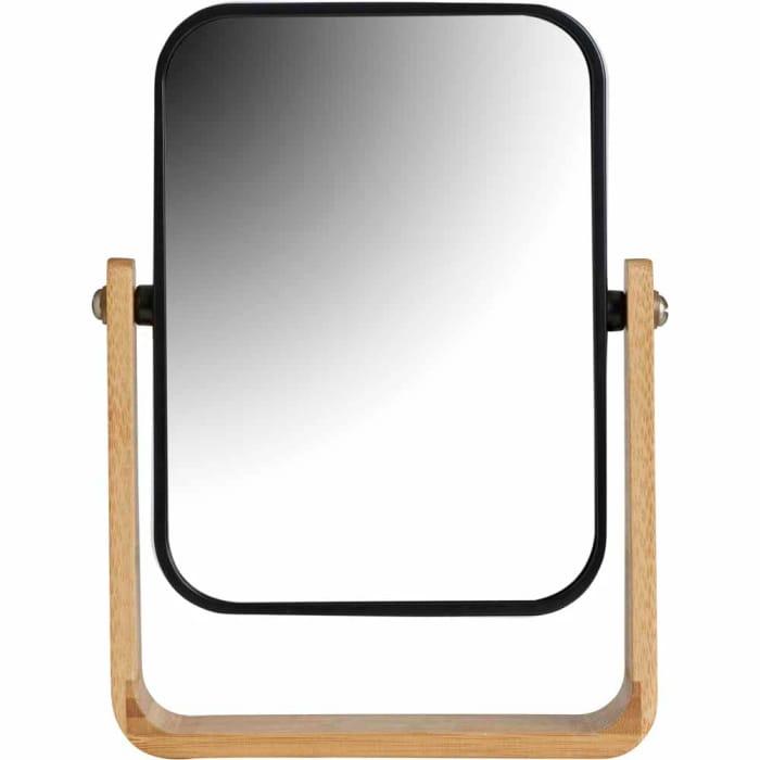 Wilko Stand Mirror Bamboo Rectangular
