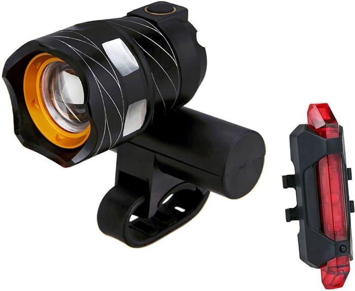 CHEAP! USB Rechargeable Waterproof LED Bike Lights Set