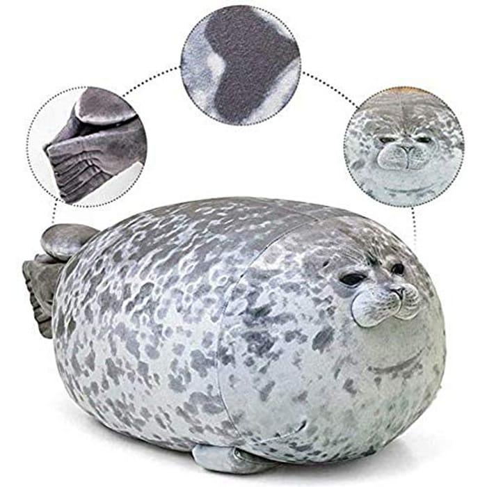 Plush Seal Pillow, Soft Cute round Chubby Blob