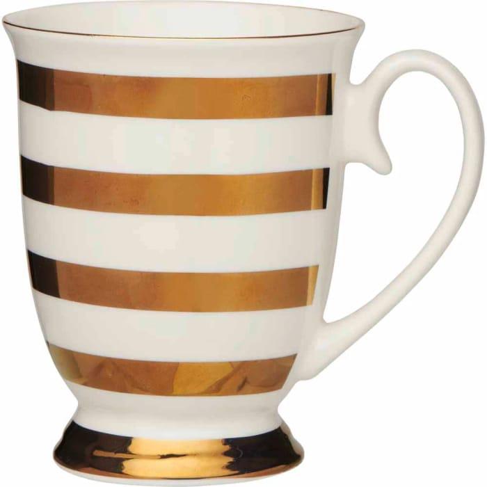 Wilko Foil Stripe Footed Mug